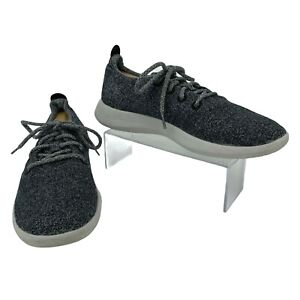 Allbirds Wool Runners Sneakers Men's Size 10 Gray Lace Up Athletic Running Shoes