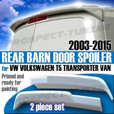 *PT VW VOLKSWAGEN T5 TRANSPORTER VAN REAR BARN DOOR SPOILER 2003 - 2015 PLASTIC