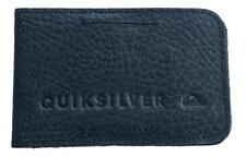 Quiksilver FOLDABLE M WALLET Mens GENUINE LEATHER Slim Wallet New - Black