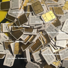 Lot of 100x Sprint, Boost mobile Nano sim SIMGLW446C for iphone 6S, iPhone 7, SE