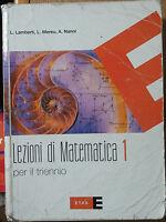 Lezioni di matematica. Per il triennio Vol.1-AA.VV.-Etas RCS Libri S.p.A.2008- R