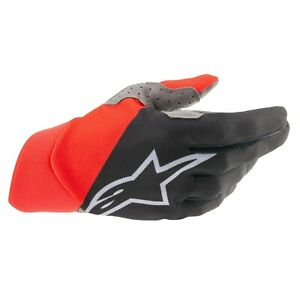 2021 Alpinestars Dune Adult Motocross Gloves Black/Bright Red MX MTB