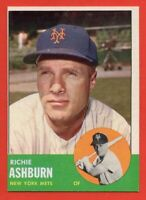 1963 Topps #135 Richie Ashburn NEAR MINT+ New York Mets Phillies FREE SHIPPING