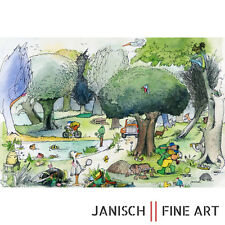"""JANOSCH - """"es fährt ein Auto durch den Wald"""", handsigniert, Auflage 99, 2013!"""