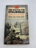 Battle for Stalingrad Chuikov 1968 1st Ballantine War PB Soviet WWII RARE D131