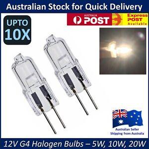 12V G4 HALOGEN BULBS - 5W 10W 20W Warm Light Globe - JC Bi-Pin - 2 6 10 Pcs Lots