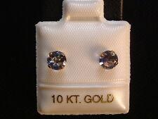 Feinste Iolith Ohrstecker Ohrringe - 5 mm - 10 Kt. Gold - 417 - Brillant Schliff