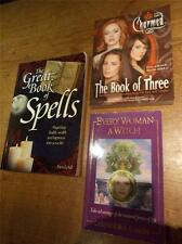 Collection 3 Books Witches Magic Spells incl Charmed hit show VGC 1st Ed