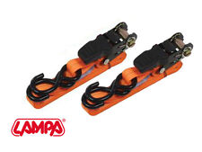 LAMPA PRO SAFE RATCHET STRAPS, QUALITY MOTORCYCLE TIE DOWNS EXTRA LONG AT 5M