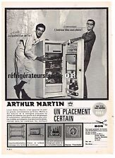 PUBLICITE ADVERTISING  1963   ARTHUR MARTIN   réfrigérateur