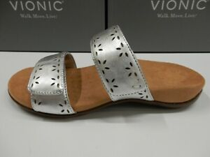 Vionic Womens Randi Leather Silver 9