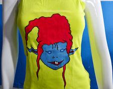 Camiseta duende tirantes mujer pintada a mano talla P, 100% original y única