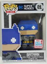 ON HAND 2017 FALL FCE NYCC Funko Pop 8-Bit Batman Blue Grey #01 DC Comics Figure