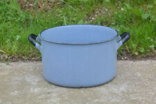 enamel pot heavy enamel cooking pot vintage large cooking pot - FREE POSTAGE