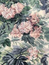 "LAURA ASHLEY ASHBOURNE VALANCE Pink Green Floral 84"" X 18"" Cotton Blend"