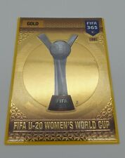 Panini 2017 U-20 Women's World Cup FIFA 365 Gold #17. Trophy + Wallet  Excellent