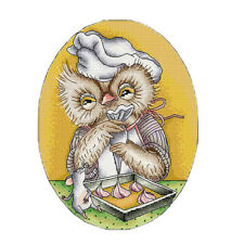 Cartoon Owl Chef Stamped Cross Stitch Starter Kits Accurate Pre-printed 14CT