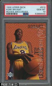 1996-97 Upper Deck Rookie Exclusives #R10 Kobe Bryant RC HOF PSA 10