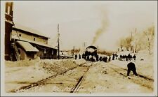 Real Photo, Train: Erie Railroad in Snow, Middletown, NY. Circa 1910.