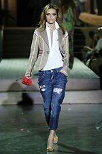 DSQUARED2 runway army green khaki jacket giacca blazer donna verde 42 IT S NWOT
