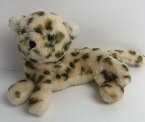 "Vtg Dakin LEOPARD CHEETAH NUTSHELLS plush stuffed animal toy 7"" 1975 HTF"