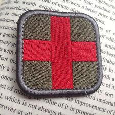 MEDIC CROSS SQUARE EMT EMS USA ARMY MORALE BADGES TACTICAL MEDICAL PATCH
