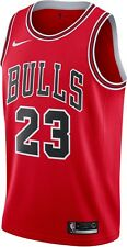 MEDIUM New Nike Michael Jordan Icon Edition RED Chicago Bulls Swingman Jersey M