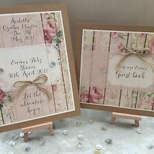Personalised Baby Shower Vintage Table Decoration Signs With Easels Baby Girl