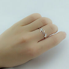 New Ladies Ring Deer Antler Finger Ring Gold Silver Jewelry Christmas Gift