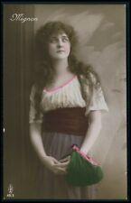 d Gypsy gipsy pretty woman European Ethnic Europa original c1910s photo postcard