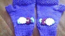 ladies fingerless mittens  hand knitted  lovely mother's day  gift ,easter gift