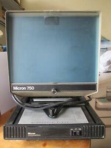 Micron  corporation 750  vintage Desktop Microfiche Reader. Good working order