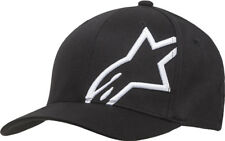 Alpinestars Corp Shift 2 Flexfit Hat-Black/White-S/M -  Mens Lid Cap