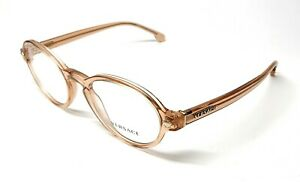 New Versace VE 3259 5215 Transparent Peach Women Authentic Frame 52-20