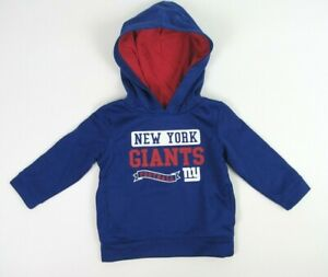 NFL New York Giants Toddlers Hoodie with Pockets Size 2T