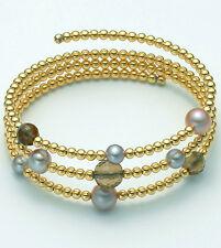 BRACCIALE Argento color oro donna perle MILUNA Vertigo PBR1717GAG silver vortice