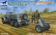 Bronco 1/35 Krupp Protze L2H143 Kfz.69 (Late) w/ 3.7cm Pak 36 #35138 *new rel.*