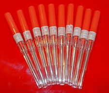 10 x 14 gauge Catheter Body Piercing Needles Sterilised 10 Medi Swabs 14 gauge