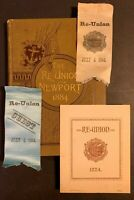 1884 SONS & DAUGHTERS OF NEWPORT RI RHODE ISLAND REUNION HISTORY BOOK & RIBBONS