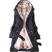 Womens Thicken Warm Winter Coat Hood Overcoat Long Jacket Outwear parka new
