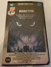 Deadly Eyes Warner Home Video VHS Previous Rental in Clamshell