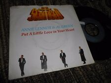 """ANNIE LENNOX&AL GREEN PUT A LITTLE LOVE YOUR HEART OST 7"""" 1988 GERMANY SCROODGED"""