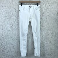 Forever 21 Womens Size 25 White Skinny Jeans Low Rise Stretch