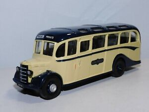 CORGI BEDFORD TYPE OB COACH ROYAL BLUE WITH ROOF WINDOWS 1/50 CODE 3 REPAINT