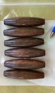 """Lot of 24 Large Pink Oval Oblong Wood Macrame Plant Hanger Craft Beads 50mm 2/"""""""