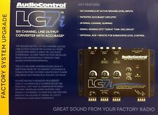 NEW Audio Control LC7i 6-Channel Line Output Converter w/ Bass Restoration BLACK