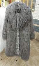 Exquisite tibetan mongolian lamb long curly hair/sheep skin fur coat jacket