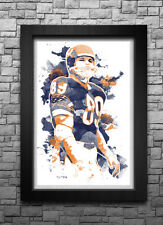 MIKE DITKA watercolor art print/poster CHICAGO BEARS FREE S&H