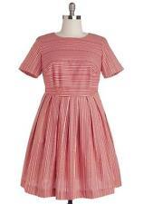 Bea & Dot Red Polka Dot Stripe Vintage Retro Carnival Ride Dress Plus Size 4X