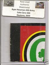 Ryan Newman authentic race used sheet-metal #39 Army Coke Zero 400 Daytona 2009